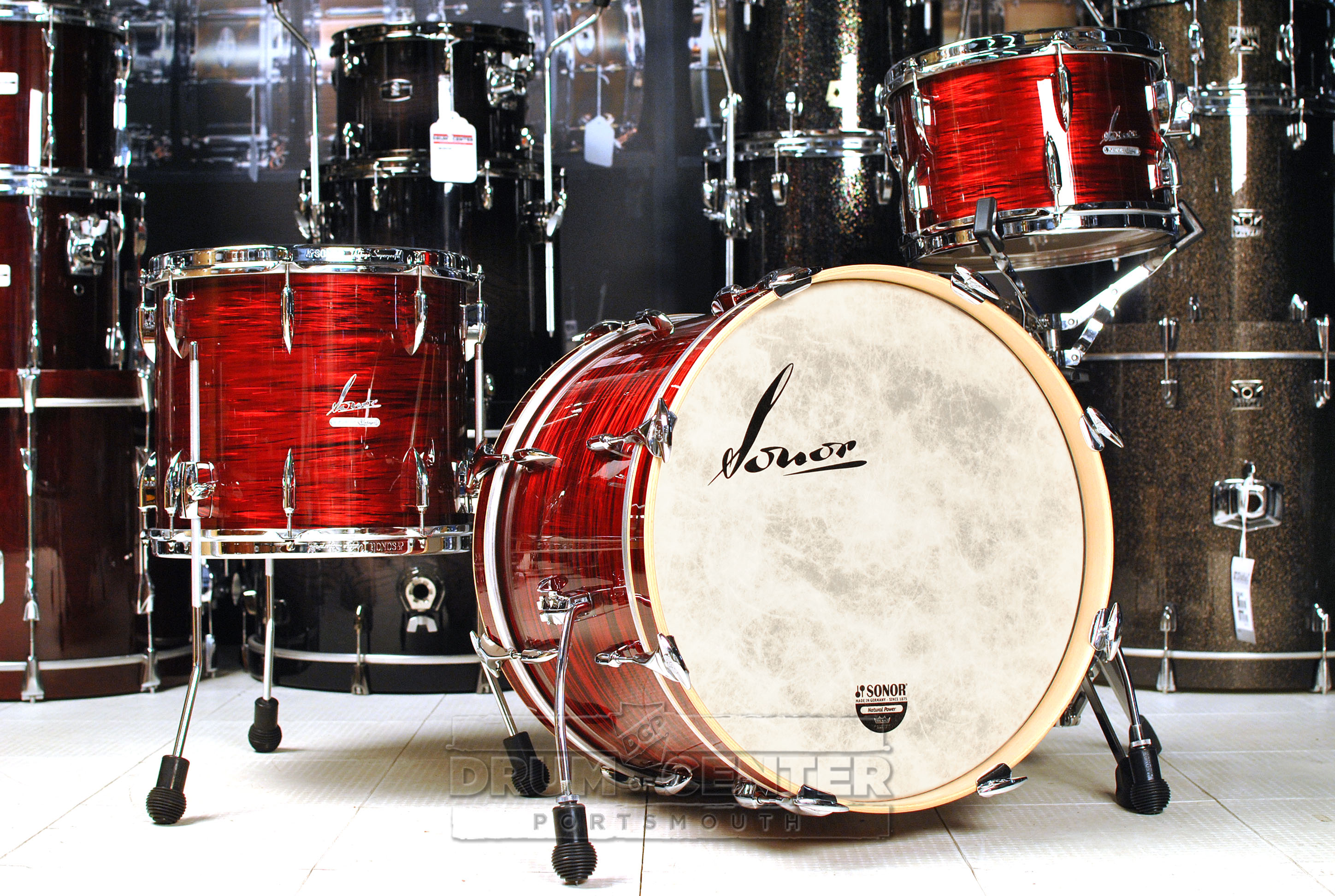 Sonor Vintage 3pc Downbeat Drum Set Vintage Red Oyster Video Demo