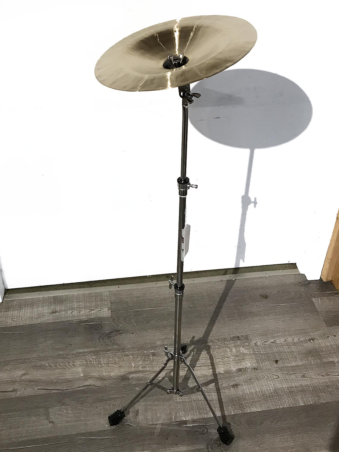 wuhan china cymbal 12 and stand 660181141956 ebay. Black Bedroom Furniture Sets. Home Design Ideas