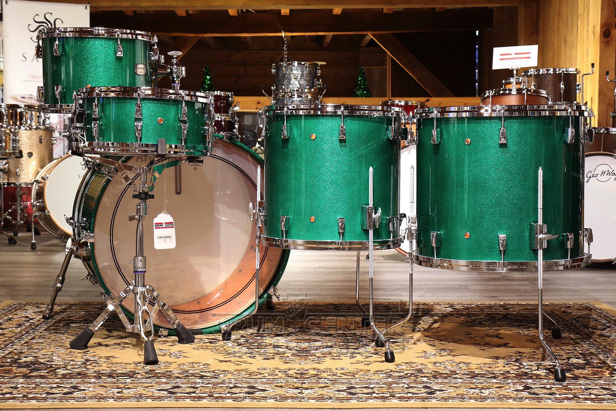 Yamaha Absolute Hybrid 5pc Drum Set 24 13 16 18 14 Jade