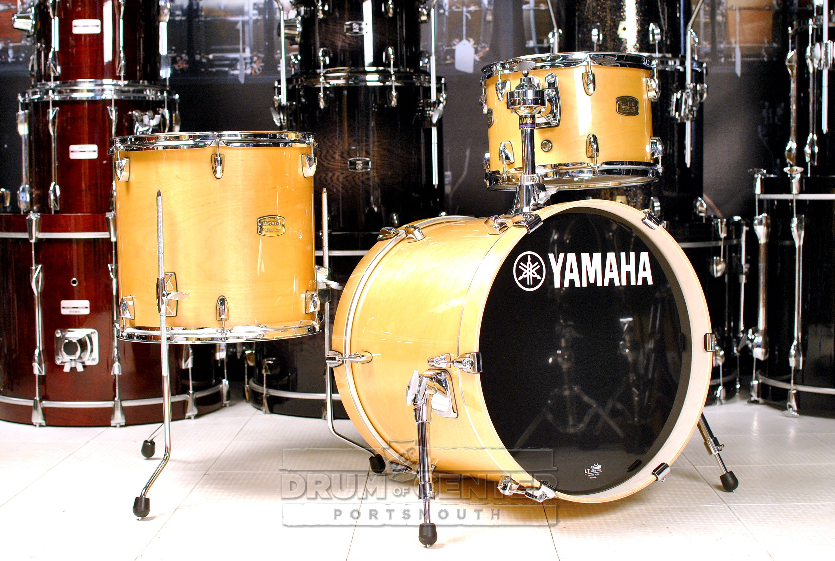 yamaha stage custom birch jazz 3pc drum set natural wood. Black Bedroom Furniture Sets. Home Design Ideas