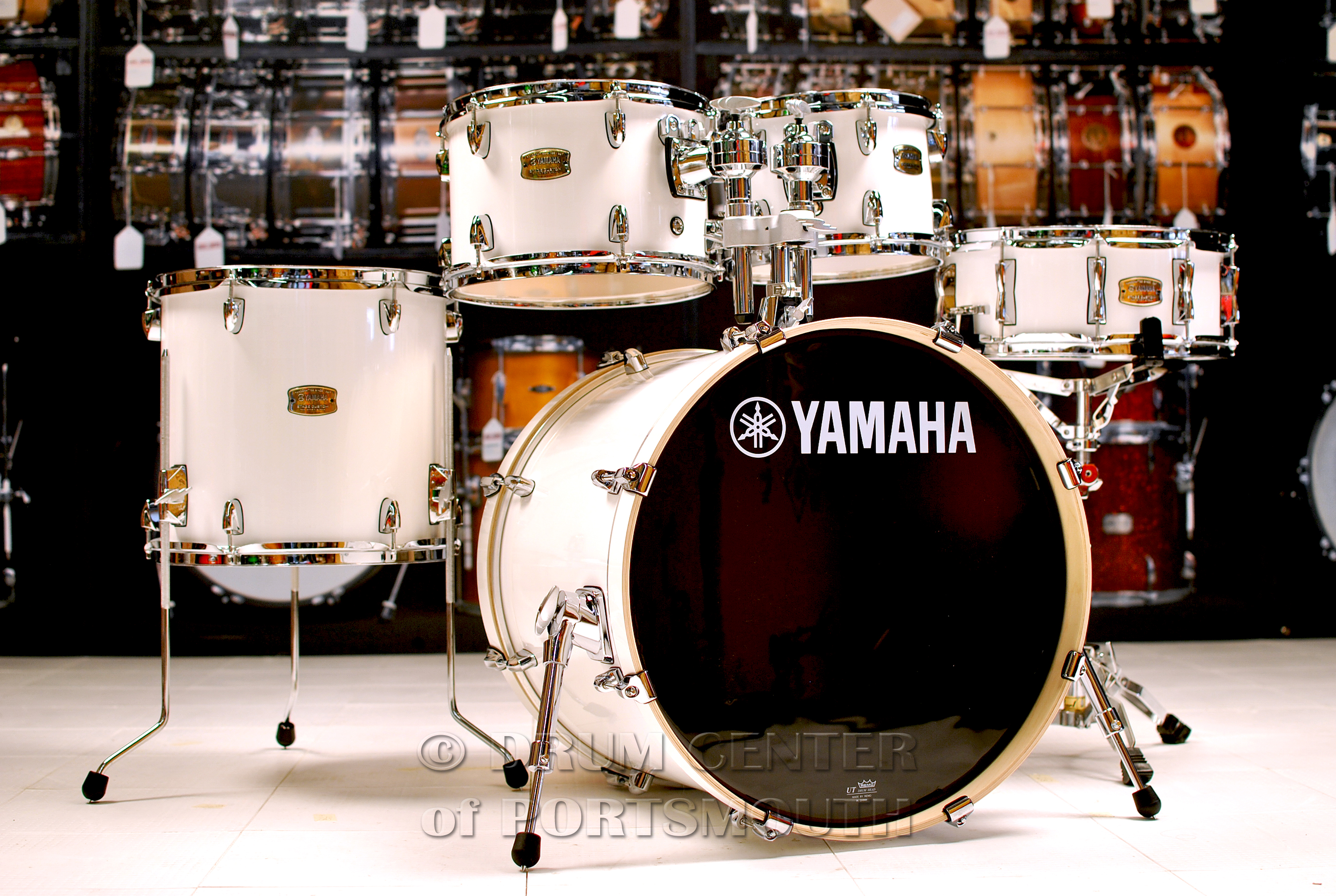 yamaha stage custom birch 5pc drum set w 20 bd pure