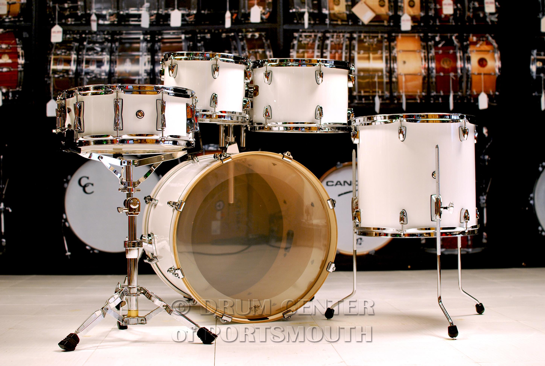 Yamaha Stage Custom Birch 5pc Drum Set W 20 Bd Pure White